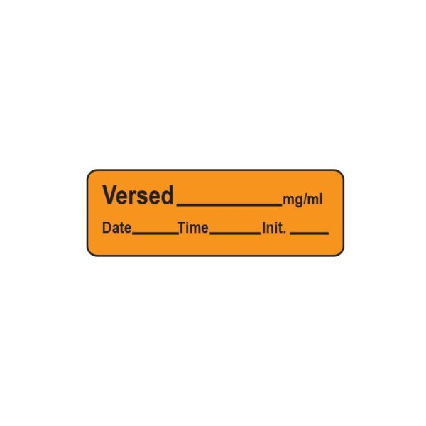 versed anesthesia label