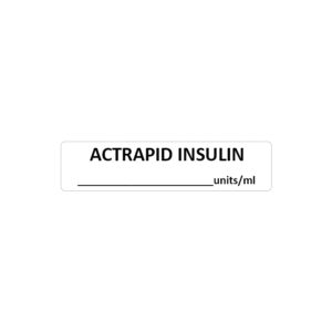 Actrapid Insulin