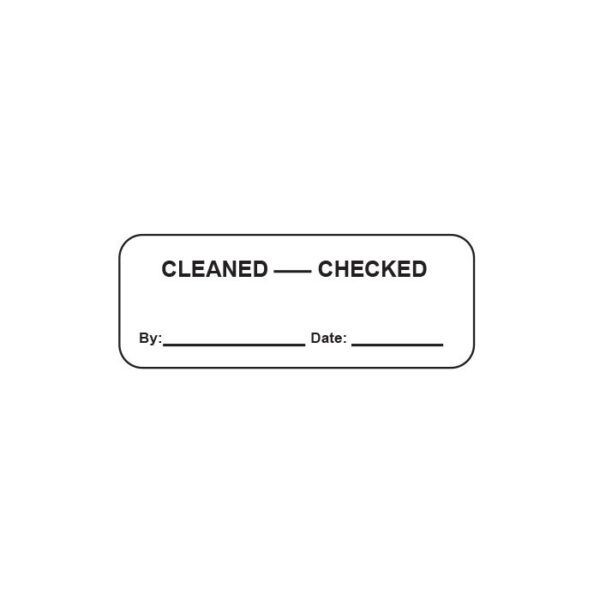 Cleaned - Checked